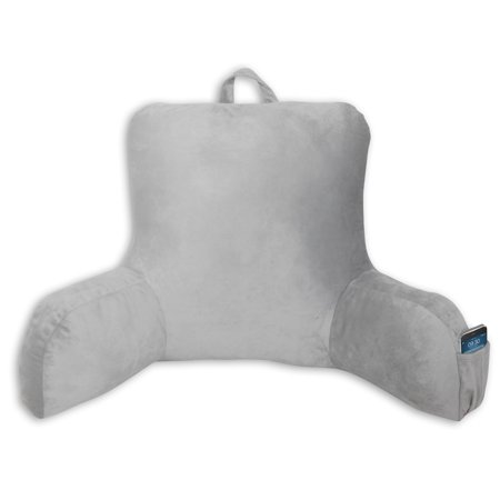- Mainstays Micro Mink Backrest with Pocket, Gray