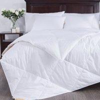 Puredown Lightweight White Goose Down Blend Comforter Duvet Insert 100% Cotton Fabric, King Size, White