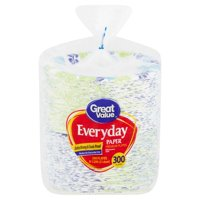Great Value Everyday Paper Plates, Lunch, 300 Count
