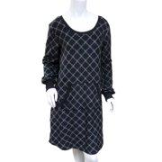 Soft Sensations Women Black Diamond Fleece Sleep Shirt MicroSpandex  Nightgown 648980bcf