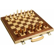 """Sterling Games 16"""" Wooden Folding Chess Set"""