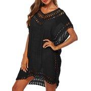 f27281e26fc69 Fysho Women Summer Swimsuit Beach Bikini Cover Up Loose Plus size Crochet Cover  ups