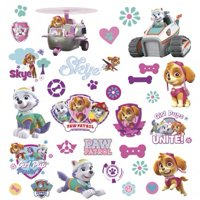 Paw Patrol Girl Pups Peel And Stick Wall Decals (30 Count)