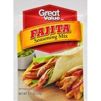 (4 Pack) Great Value Fajita Seasoning Mix, 1.25 oz