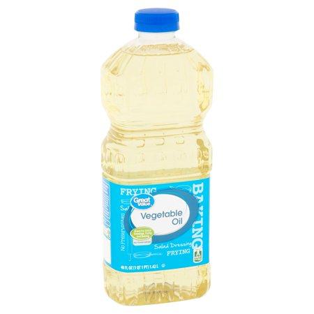 - (3 Pack) Great Value Vegetable Oil, 48 fl oz