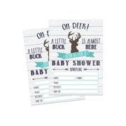 Baby shower invitations 50 fill in deer baby shower invitations baby shower invitations hunting camping camo filmwisefo