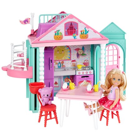 Make Dolls Houses - Barbie Club Chelsea Playhouse, 2-Story Dollhouse with Chelsea Doll