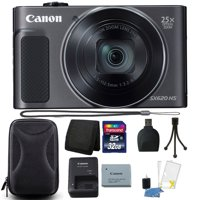 Canon PowerShot SX620 HS 20.2MP 25X Zoom WIFI Digital Camera with 32GB Accessory Kit