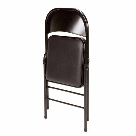 Mainstays Vinyl Chair Set Of 4 Black Walmart Com