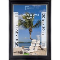 """Mainstays 20"""" x 30"""" Two-Tone Poster Frame, Black with Champagne"""