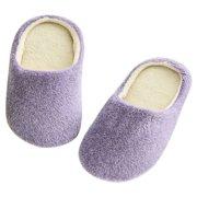 Nicesee Women Men Winter Warm Fleece Anti-Slip Slippers Indoor Shoes