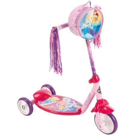 Disney Princess Girls' 3-Wheel Pink Scooter, by Huffy® ()