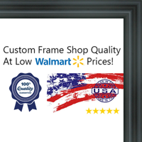12x12 Swooped Black Wood Frame - Great for Posters, Photos, Art Prints, Mirror, Chalk Boards, Cork Boards and Marke