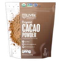 BetterBody Foods LivFit Superfood Organic Cacao Powder, 1.0 Lb