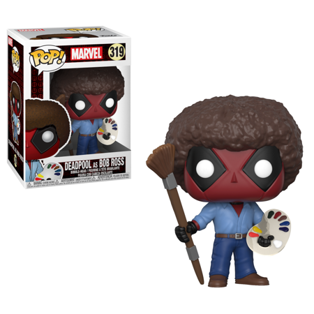 Funko Pop! Marvel: Deadpool as Bob Ross