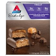 Atkins Endulge Chocolate Caramel Mousse Bar, 1.2oz, 5-pack (Treat)