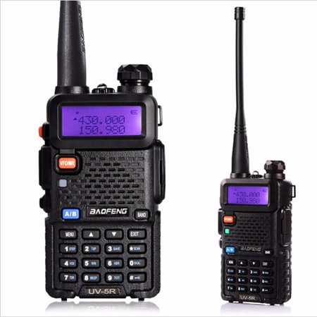 Baofeng UV-5R Two-Way Ham Radio Walkie handheldwalkietalkiesspeaker Talkie Long Range Portable 128 Channels ()