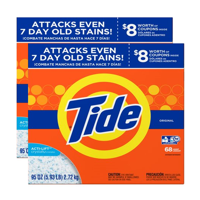 (2 pack) Tide Laundry Detergent Powder, Original, 68 loads 95 ounces