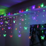 Erfly Led String Curtain Lights Colorful Wedding Children Room Decor Lamp