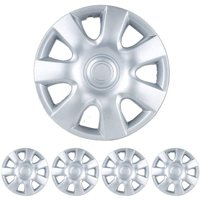"""BDK Toyota Camry Style Hubcaps Wheel Cover, 15"""" Silver Replica Cover, 4 Pieces"""