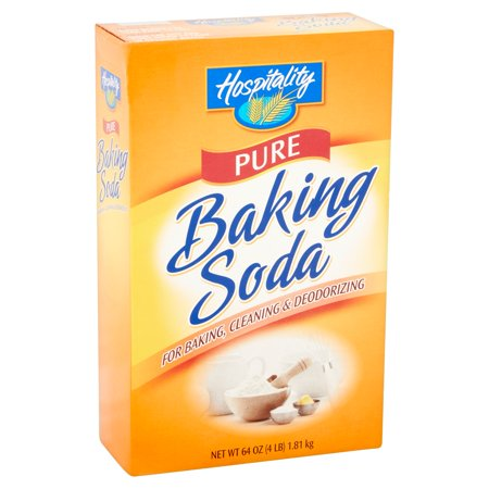 (4 Pack) Hospitality Pure Baking Soda, 4 lb (Baking Powder Or Baking Soda For Cake)