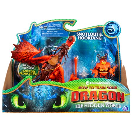Kids Online Shops (DreamWorks Dragons, Hookfang and Snotlout, Dragon with Armored Viking Figure, for Kids Aged 4 and)