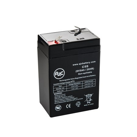 Skytech SC46 6V 5Ah Sealed Lead Acid Battery - This is an AJC Brand (Skytech Battery)