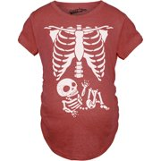 dc76db07f Maternity Skeleton Baby T Shirt Funny Cute Pregnancy Tee For Mothers