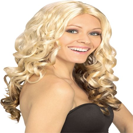 Goldilocks Wig Adult Halloween Costume Accessory - Snooki Wig