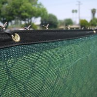 Clevr 6' x 50' Fence Wind Privacy Screen Mesh Commercial Cover with Grommets, Green | 1 Year Limited Warranty