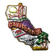 180 Degrees State of California Holiday Tree Ornament, 6 X 6 inches