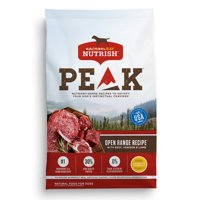 Rachael Ray Nutrish PEAK Natural Dry Dog Food, Grain Free, Open Range Recipe with Beef, Venison & Lamb, 12 lbs