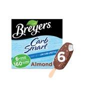 Breyers CarbSmart Frozen Dairy Dessert Almond Bars 6 ct