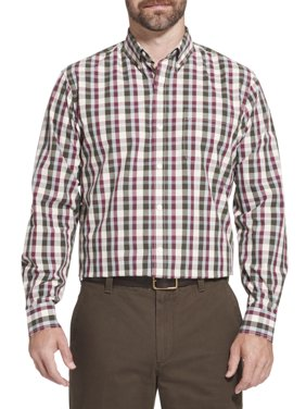 Men's Big and Tall Long Sleeve Hamilton Poplin Button Down Shirt