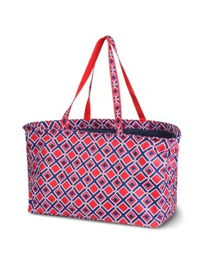 """Zodaca Stylish Large All Purpose Open Top Handbag Laundry Shopping Utility Tote Carry Bag (Size: 21""""L x 11"""" W x 13.5"""" H)"""