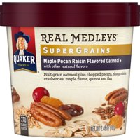 (6 Pack) Quaker Real Medleys Oatmeal + Maple Pecan Raisin, 2.46 oz