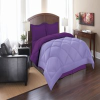 Elegant Comfort Goose Down Alternative Reversible 3pc Comforter Set- Available In A Few Sizes And Colors , King/Cal King, Lilac/Purple
