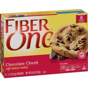 Fiber One Cookies Soft Baked Chocolate Chunk Cookies 6 Pouches 6.6 oz
