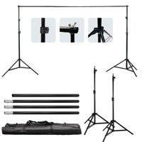Ktaxon 10ft Adjustable Background Support Stand Photography Video Backdrop Kit Black