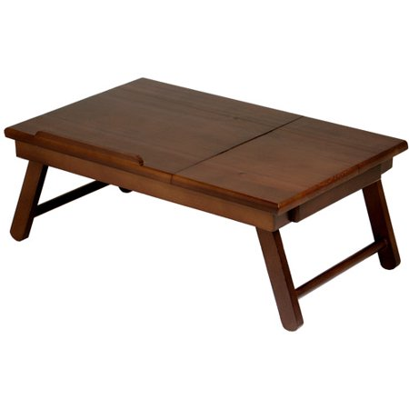 Winsome Alden Lap Desk/Bed Tray with Drawer, Walnut