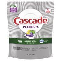 Cascade Platinum Dishwasher Detergent ActionPacs, Lemon, 18 Count