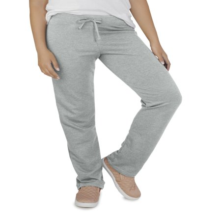 Fruit of the Loom Women's Essentials French Terry Open Bottom Pant