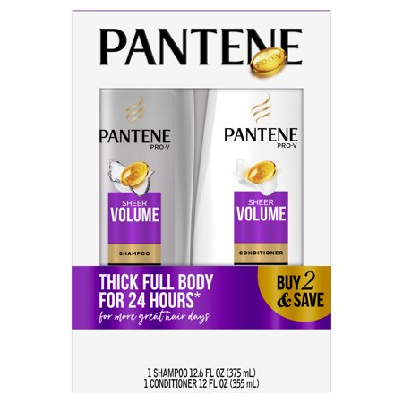 Pantene Pro-V Sheer Volume Shampoo and Conditioner Bundle Pack
