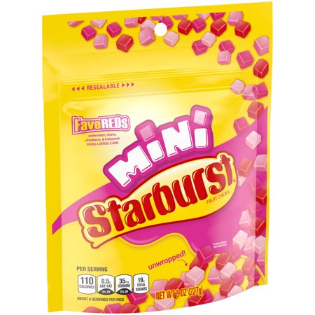 Starburst, Minis FaveREDS Unwrapped Fruit Chews Candy, 8 Ounce