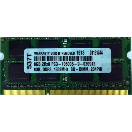 8GB DDR3 PC3-10600 1333mhZ CL9 204Pin SO-DIMM Memory RAM 8 GB SO-DIMM FOR (10600 Sodimm Memory)