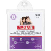 AllerEase Standard or Queen Ultimate Comfort Allergy & Bedbug Zippered Pillow Protector, 1 Each