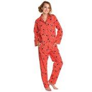 f6f00273ee Women Cotton Flannel Loungewear Sleepwear Pajama Set