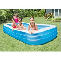 Kiddie pools kiddie inflatable pools - Intex swim center family lounge pool blue ...