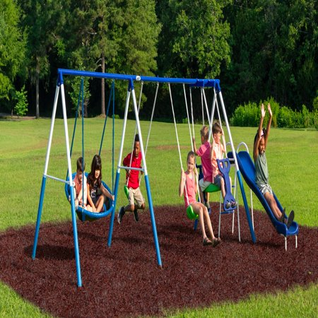 Xdp Recreation All Star Playground Metal Swing Set Walmart Com