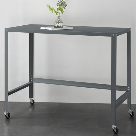 Mainstays Metal Console Rolling Desk, Multiple Colors - Metal Writing Desk